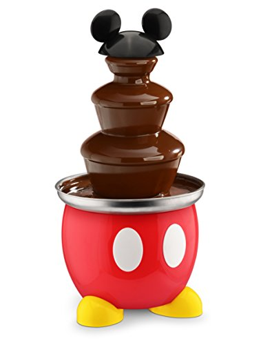 Best Buy! Disney DCM-50 Mickey Mouse Chocolate Fountain, Red
