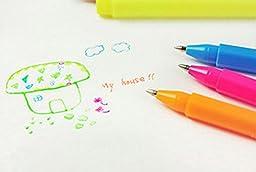 Highlighter Fluorescent Liquid Chalk Marker Pen Pencil Shape Watercolor Pen NEL