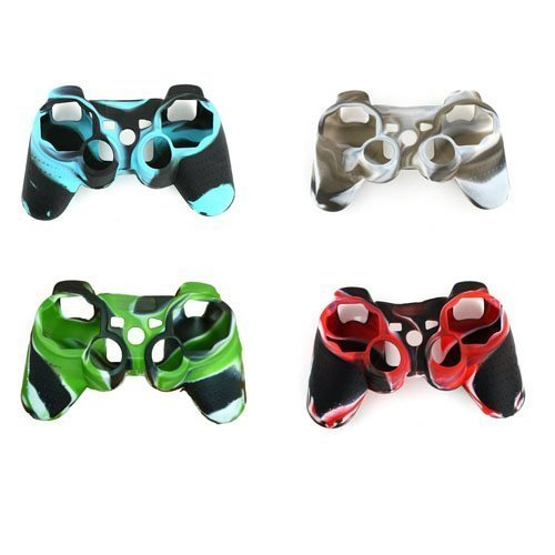 YTTL® 4 Pack of High Quality Premium Super Grip Silicon Protective Skin Case Cover for Sony Playstation 3 PS3 Remote Controller (Silicone Ps3 Controller Cover compare prices)