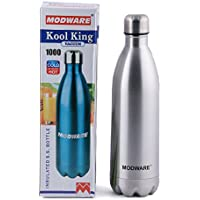 Modware Kool King-1000ml Vacuum Hot And Cold Water Bottle Stainless Steel Thermos- Keep Drinks Hot Or Cold More...