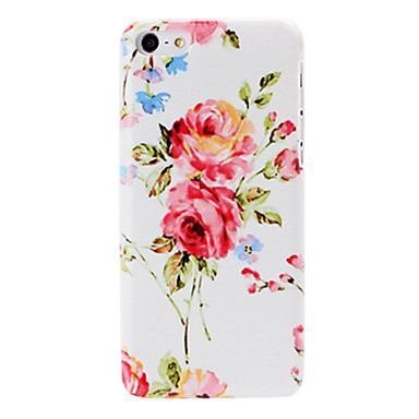 Small Fresh Red Flowers Pattern Painting Plastic Hard Case for iphone 5C