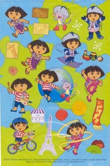 Dora the Explorer World of Adventure Sticker Sheets 2 Pk