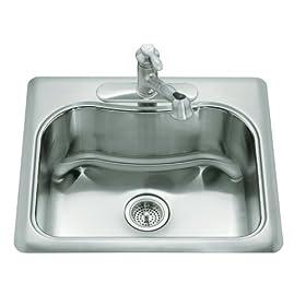 KOHLER K-3362-1-NA Staccato Single-Basin Self-Rimming Kitchen Sink