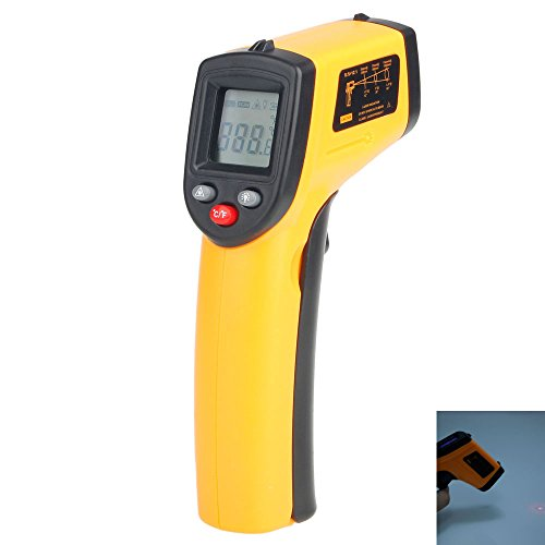Temperature Gun Digital Lcd Screen Display Non Contact Mini Infrared Thermometer Range -50-330℃ (-58 - 626°F)