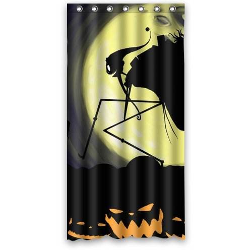 """Anhome Pumkin Demon Moonlight Nightmare Before Christmas Shower Curtain 36""""X 72"""" front-903966"""