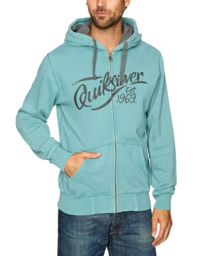 Quiksilver Cubed-KPMSW162 Men's Sweatshirt Teal Blue Large