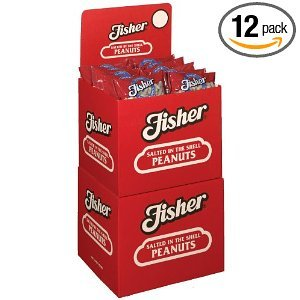 Fisher Peanuts, Singles, 12-Ounce Packages (Pack of 12) (Peanuts Fisher compare prices)