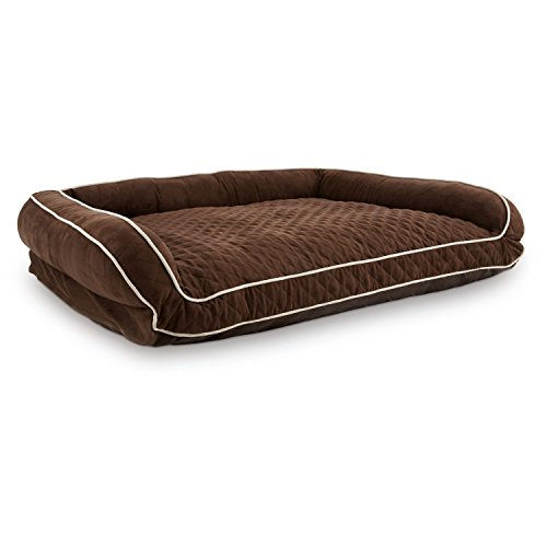 """Petco Memory Foam Brown Couch Dog Bed, 48"""" L X 36"""" W X 10"""" H"""