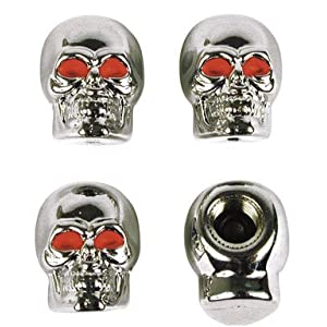 CAPS VALVE SKULL CHR CD4 [Case of 1]