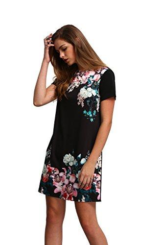Floerns-Womens-Floral-Print-Short-Sleeve-Casual-Top-Shirt-Dress