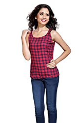 Eighteen 4ever Women's Top (CL019_Red_X-Large)