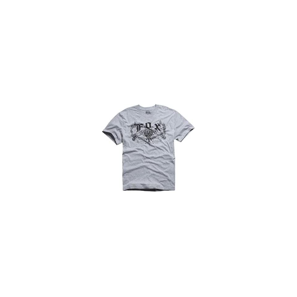 Fox Racing Lager T Shirt   Small/Heather Grey Automotive