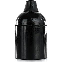 Lampenfassung Bakelitfassung E27 Bakelit schwarz mit Klemmnippel
