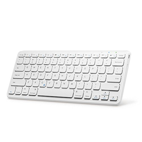 Anker Ultra Compact Slim Profile Wireless Bluetooth Keyboard for iOS, Android, Windows...