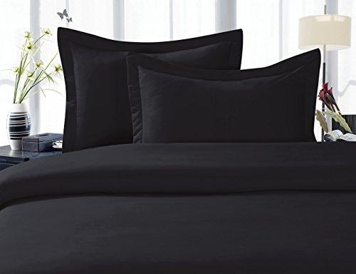 Elegant Comfort 4 Piece 1500 Thread Count Luxury Ultra Soft Egyptian Quality Coziest Sheet Set, Queen, Black