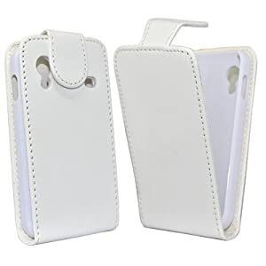 Accessory Master Housse en cuir pour Samsung Galaxy Ace Blanc