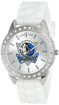 Game Time Ladies NBA-FRO-DAL Frost NBA Series Dallas Mavericks 3-Hand Analog Watch by Game Time