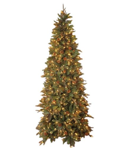 GKI Bethlehem Lighting Pre Lit 6 1 2 Foot PE PVC Christmas Tree With 400 Clea