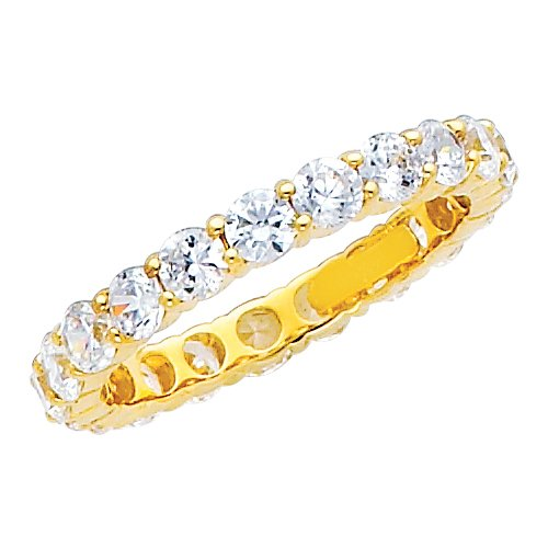 AxelChaneyBenjamin Sale 14K Yellow Gold Round shape CZ Cubic