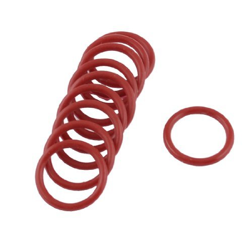 Water & Wood 10X Red Rubber 18Mm X 2Mm X 14Mm Oil Seal O Rings Gaskets Washers front-595929