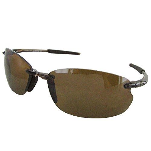 041945150d716 Revo Mens 4045 Cut Bank Rimless Polarized Sunglasses Brown Smoke Bronze