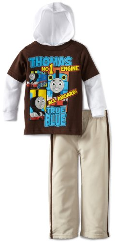 Boys 2-7 2 Piece Thomas True Blue Pant Set, Brown, 3T