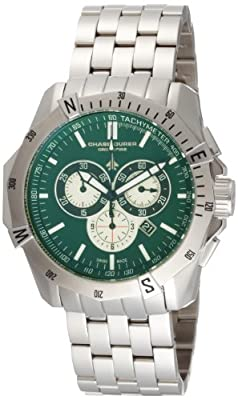 Chase-Durer Men's 850.2ESS Crossfire Stainless Steel Chronograph Watch