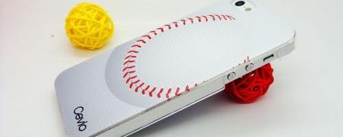 Cevio 正規品 iPhone5 Case ( 野球 )  ボール の縫い目の感触が リアル で 魅力的  手に馴染み 楽しい 人気 凹凸彫刻柄 iphone 5 カバー ブランド おすすめ 人気 ブランド アップル スマホ スマートフォン カバー 携帯ケース アイフォン 5 アイホン 5 カバー 男性 女性 レディース 向け 好評 ブランド ベイスボール 好き の スポーツ マン 向き お洒落 な ギフト プレゼント 贈り物 にも最適な Love ジャケット + HD 高級 液晶保護フィルム