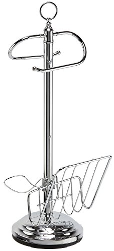 Toilet Valet Free Standing Toilet Tissue Holder and Dispenser, Chrome