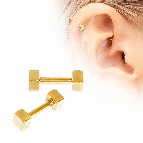 piercing h lix plaqu or cubes bijouterie carr or. Black Bedroom Furniture Sets. Home Design Ideas