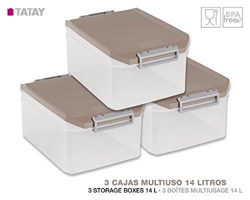tatay-xxxx-lot-3-boites-multifonction-14-litres-dimensions-39-x-27-x-19-cm-couleur-xxx-taupe