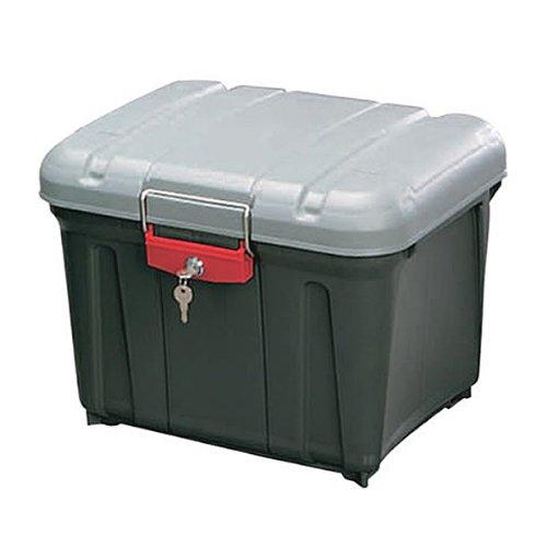アイリスオーヤマ ボックス RVBOX 密閉 カギ付 460 グレー/ダークグレー 幅45.5×奥行36.1×高さ35.1cm