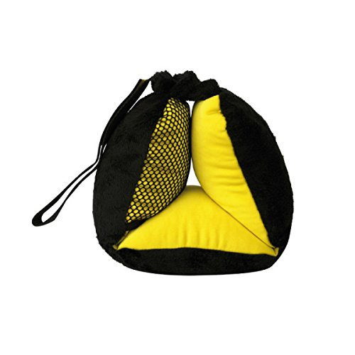 BubbleBum Sneck Neck Pillow, Black/Neon Yellow