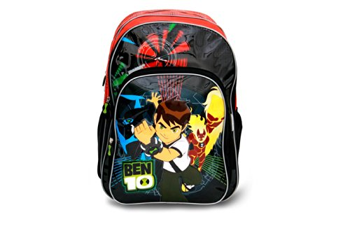 Genius Lil Genius Ben 10 Red School Bag (LG B10 1402 V-VVXL_RED) (Multicolor)