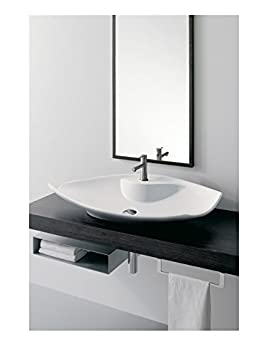 Scarabeo Scarabeo 8052/R-One Hole-637509878719 Designer Porcelain Bathroom Sink Vessel, White