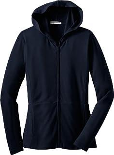 Port Authority Ladies Modern Stretch Cotton Full-Zip Jacket - Black L519 XS