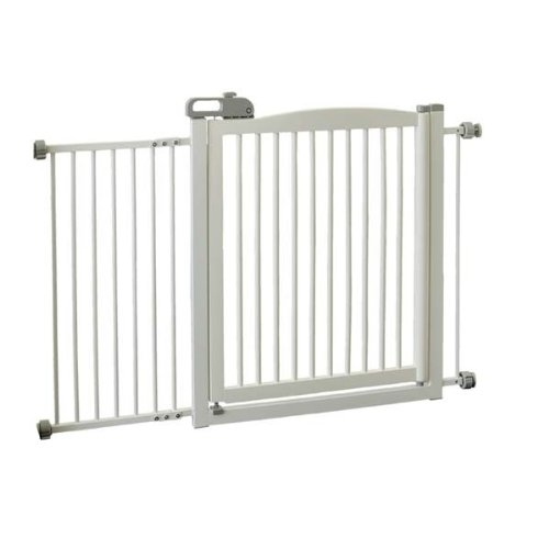 Extra Wide Tension Mount Pet Gate - White [Misc.]
