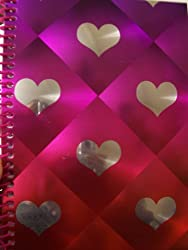 University Of Style Illuminate Spiral Notebook Hearts Of Love (5 X 7; 80 Sheets, 160 Pages)
