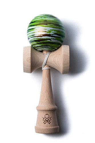 Sweets Kendama Chameleon Marble Green White