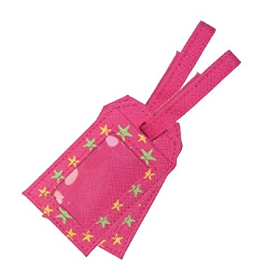 Content&Calm Traveller Luggage Tags (Pink Star) from Content&Calm