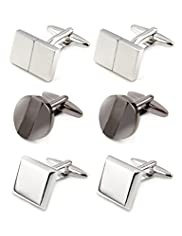 3 Pairs of Metal Cufflinks