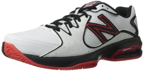 New Balance Men'S Mc786 Tennis Shoe,White/Red,11 D Us