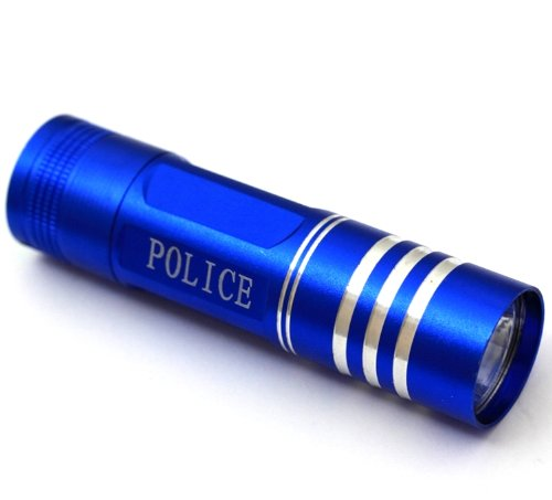 Ultra chiari LUZ LED TORCH torcia Police - dal design moderno - luce Super chiara in blu