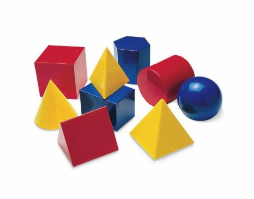 Didax Plastic 3D Geometric Shapes, 3