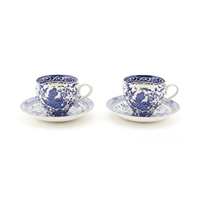 Regal Peacock Tea Cup and Saucer (Set of Two)