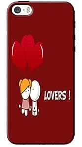 EU4IA Bigli Migli Lovers Pattern MATTE FINISH 3D Back Cover Case For iPhone 5s - D271