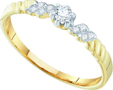 0.10CTW DIAMOND BRIDAL RING