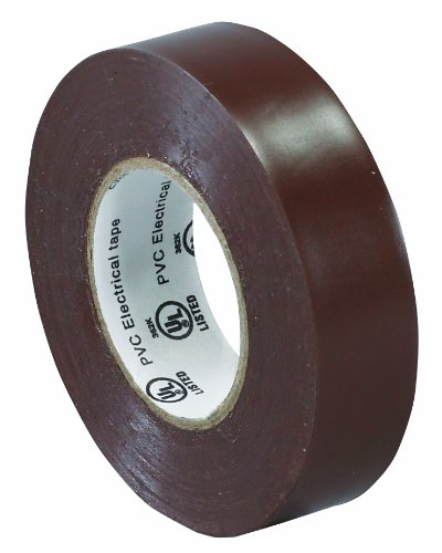"Aviditi T96461810Pkn Electrical Tape, 20 Yds Length X 3/4"" Width, Brown (Case Of 10)"