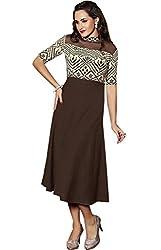 Viva N Diva Women's Brown Color Women's Linen Kurti.