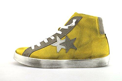 2 STAR sneakers donna 39 EU giallo camoscio AG354